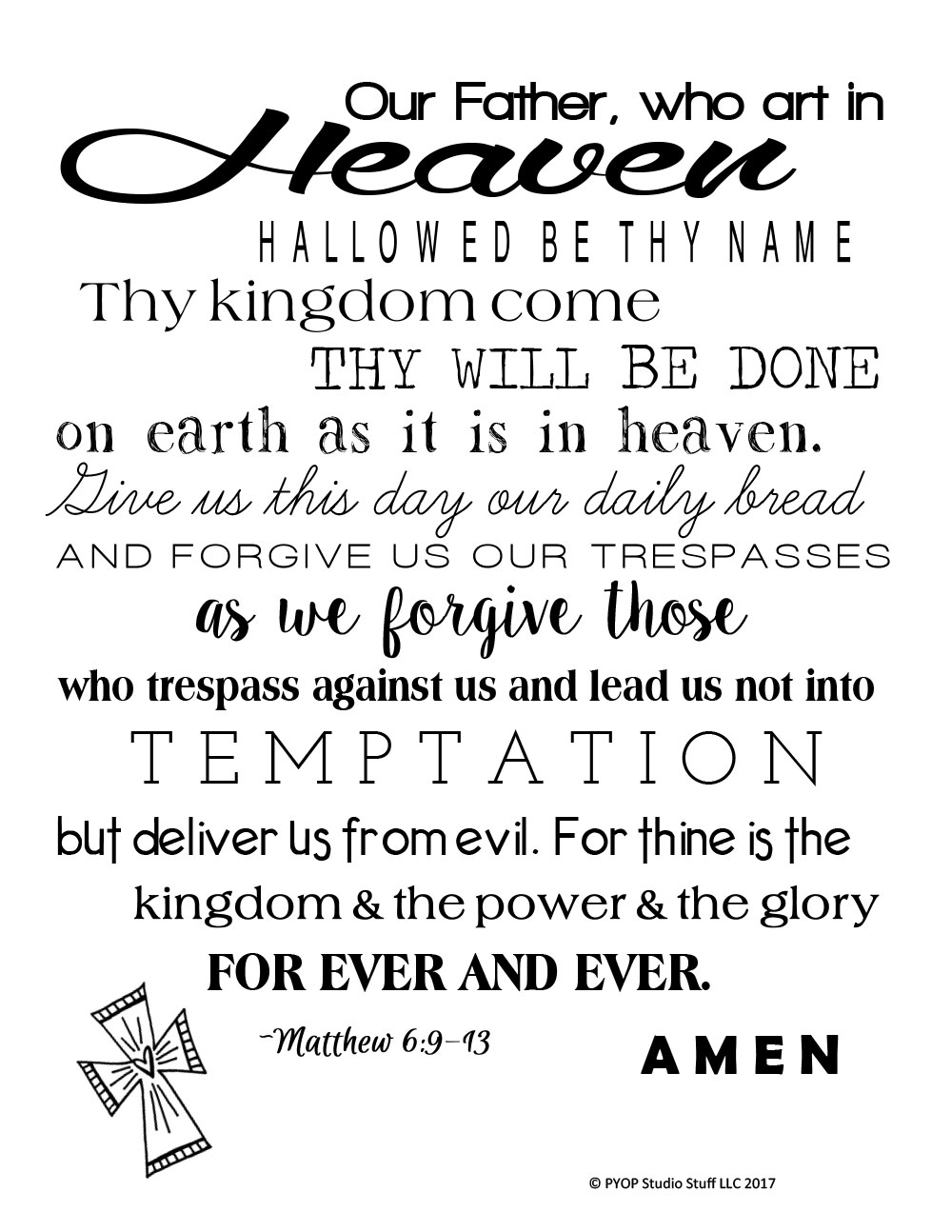 ... The Lord's Prayer. 🔍. $15.00